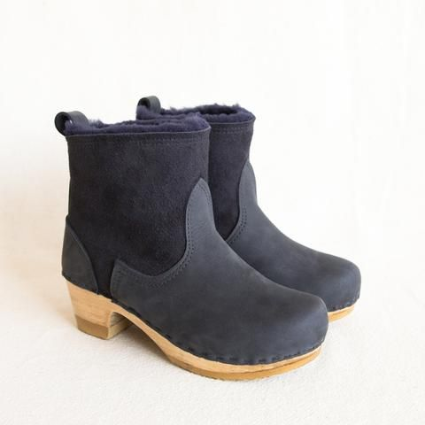 No.6 Shearling Boots in Navy at General Store