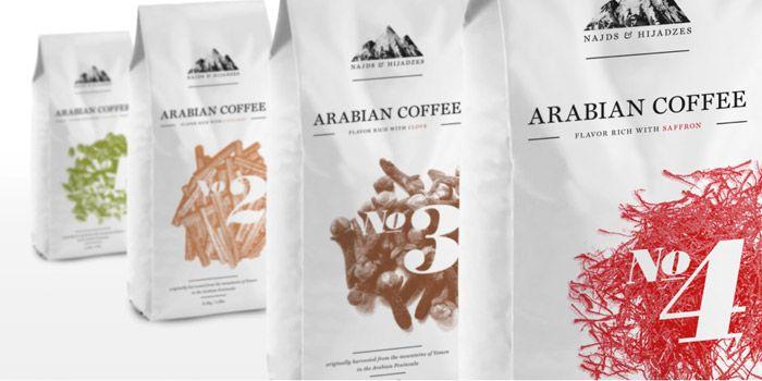 Najds & Hijadzes is an arabian coffee concept Designed by Filip Pomykalo via the dieline