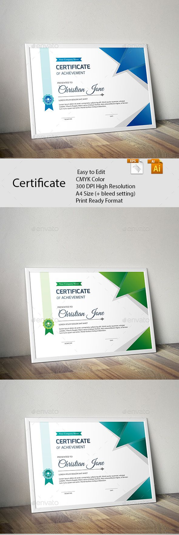 #Certificate - #Certificates Stationery Download here: https://graphicriver.net/item/certificate/20462045?ref=alena994