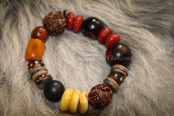 Mixed Beads Tibetan Bracelet by TheLittleTibet on Etsy #yakbone #turquoise #tibetan #mala #prayer #necklace #coral #inspired #buddhist #artisan #handicraft #beads #ethical #bohemien #independence #lhasa #thelittletibet