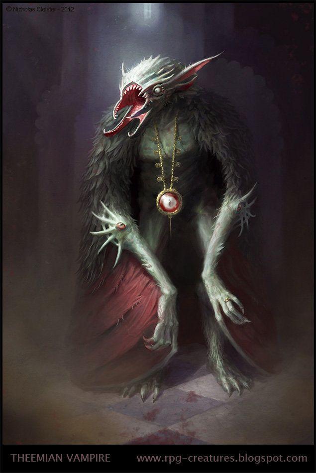 Artstation Theemian Vampire Creature Design Nicholas Cloister