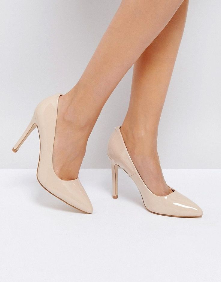 Truffle Collection Point High Heels - Beige