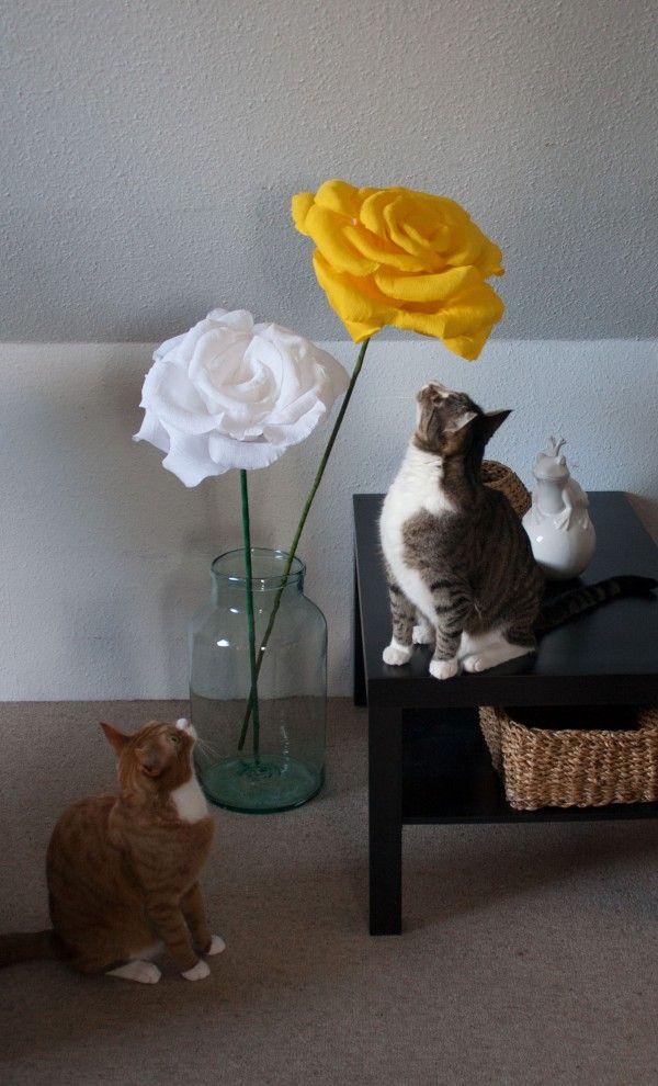 XXL Blumen aus Papier - Handmade Kultur