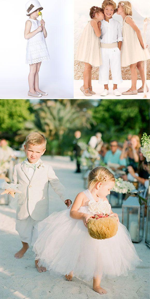 Ideas para vestir a los pajes en tu boda: