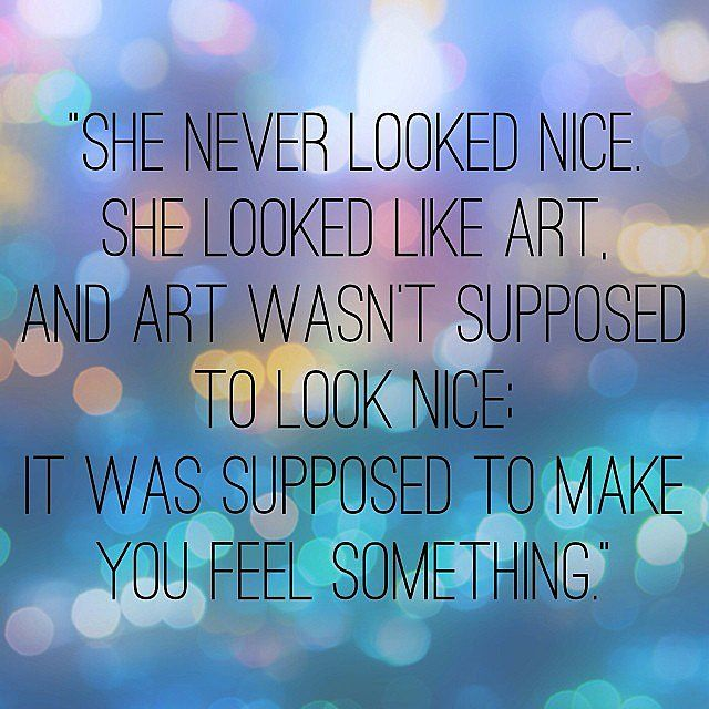 Such a beautiful quote from the book Eleanor & Park.