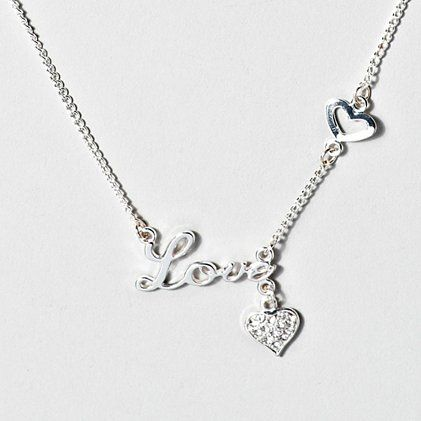 We ♥ this Love Charm Necklace for Valentine's Day
