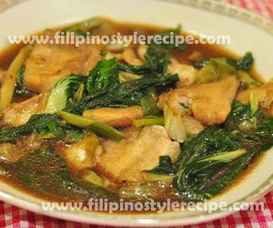 Cream Dory and Pechay in Oyster Sauce