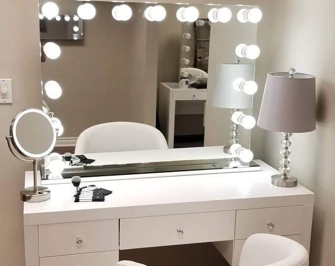Custom Vanity Decals Choose Your Makeup Etsy Diy Mirror Lighted Room