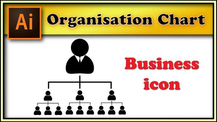 Organisation chart, company structure - Adobe Illustrator tutorial