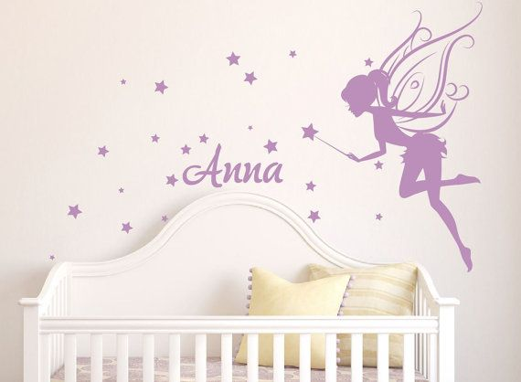 Baby Girl Room Decor Fairy Wall Decal w/ Blowing by DecaIisland, $50.00