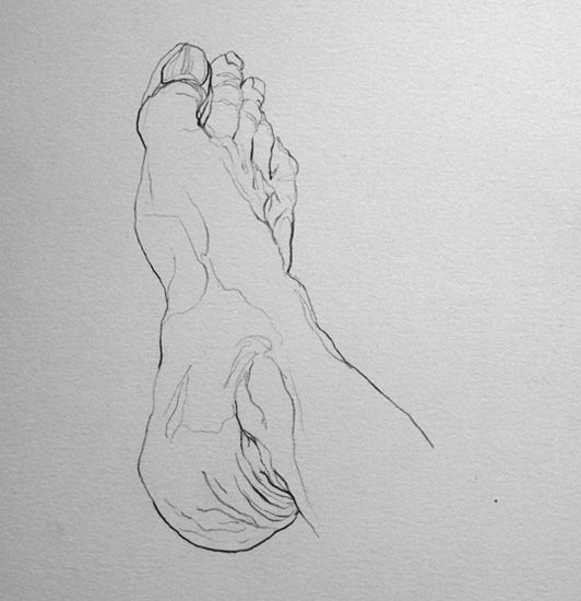 foot contour drawing examples.