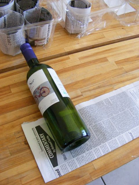 Newspaper Seed Starting Pots, could also (and better, less dye) be used with paper grocery bags...