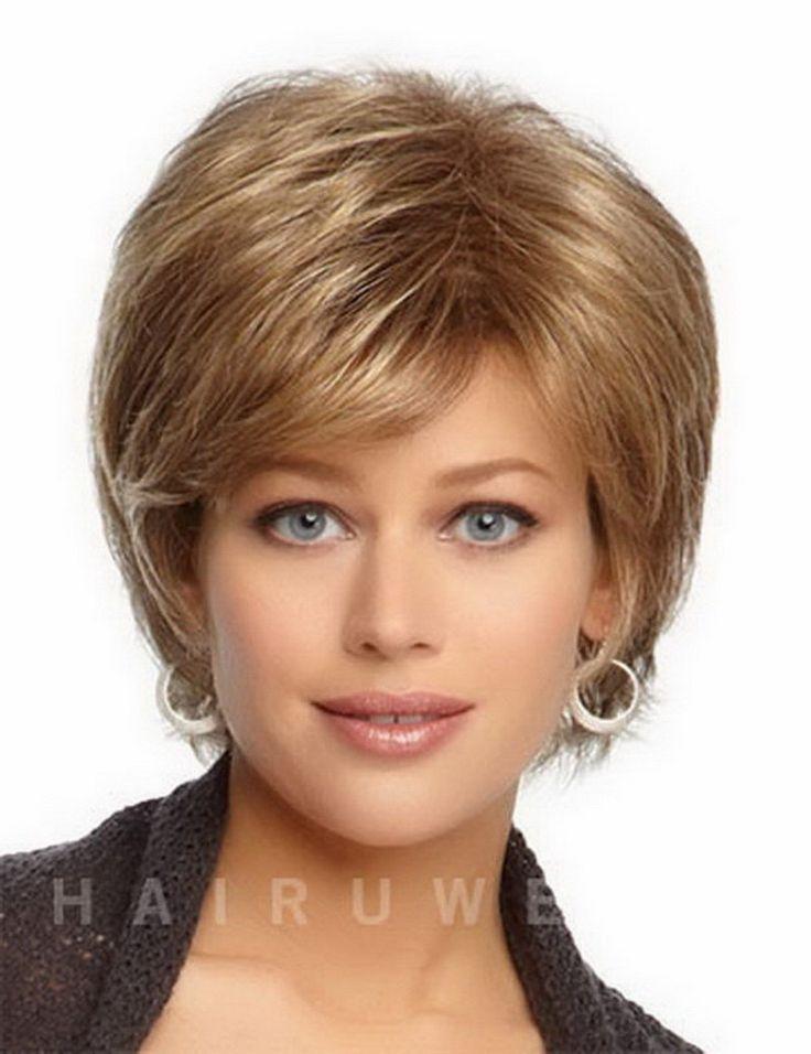 耐熱合成ストレートヘア製品短いブロンドのかつら自然なかつら白人女性送料無料