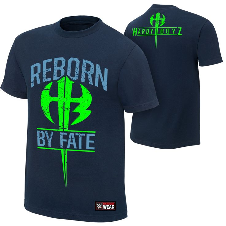 """The Hardy Boyz """"Reborn by Fate"""" Authentic T-Shirt - WWEShop.com"""