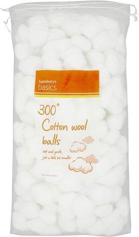 Sainsbury's Basics Cotton Wool Balls (300)