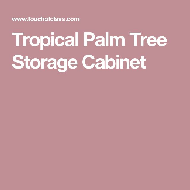 Tropical Palm Tree Storage Cabinet