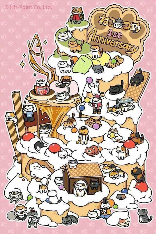 7d9df4ef64f4 Neko Atsume 1st anniversary was idk when but congrats keep making more  kitties