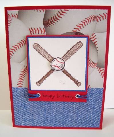 Batter Up!  ... Stampin Up - Sporting Goods