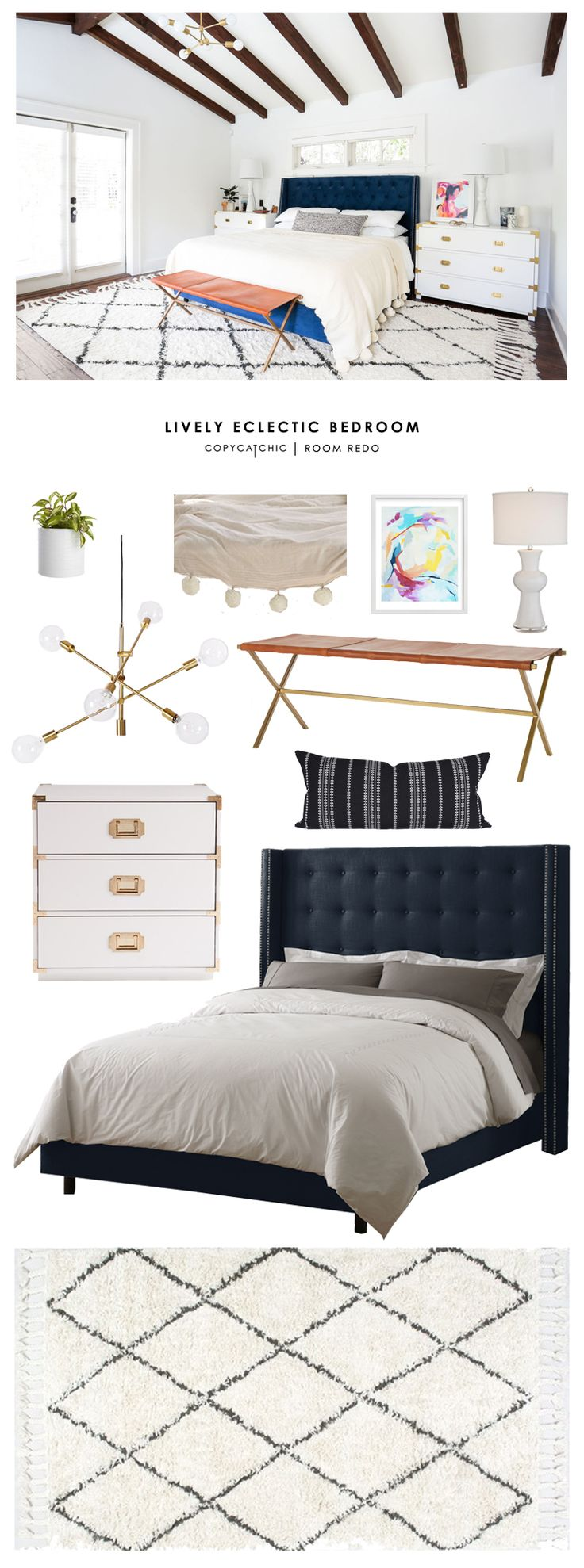 Copy Cat Chic Room Redo | Lively Eclectic Bedroom | Copy Cat Chic | Bloglovin'
