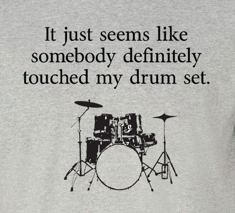 NEW somebody touched my drum set t-shirt - Step Brothers Sizes S - 2XL on Etsy, $14.99