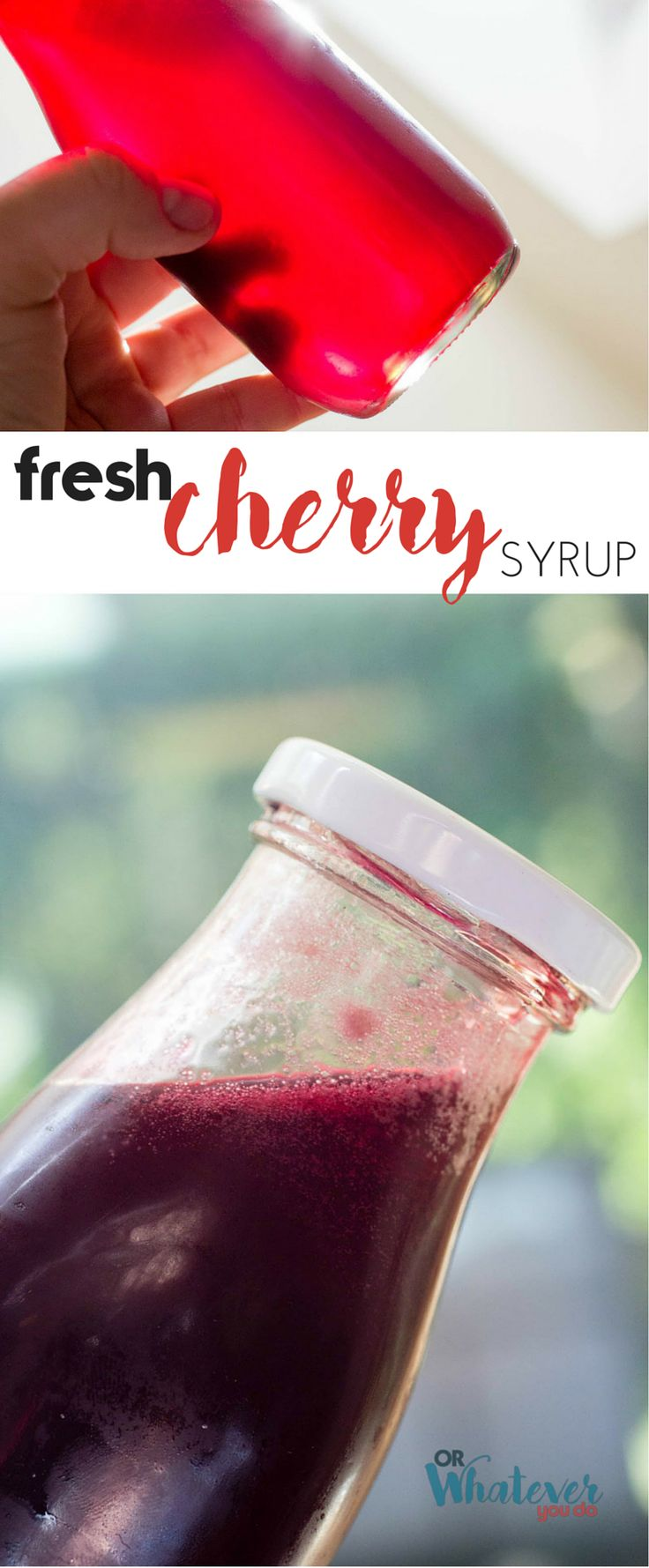 Super simple fresh cherry syrup. Ultra flavorful sweetener for your favorite cocktail! I am LOVING this so much, I can't wait for you to try…
