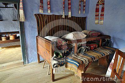 Traditional romanian house interior