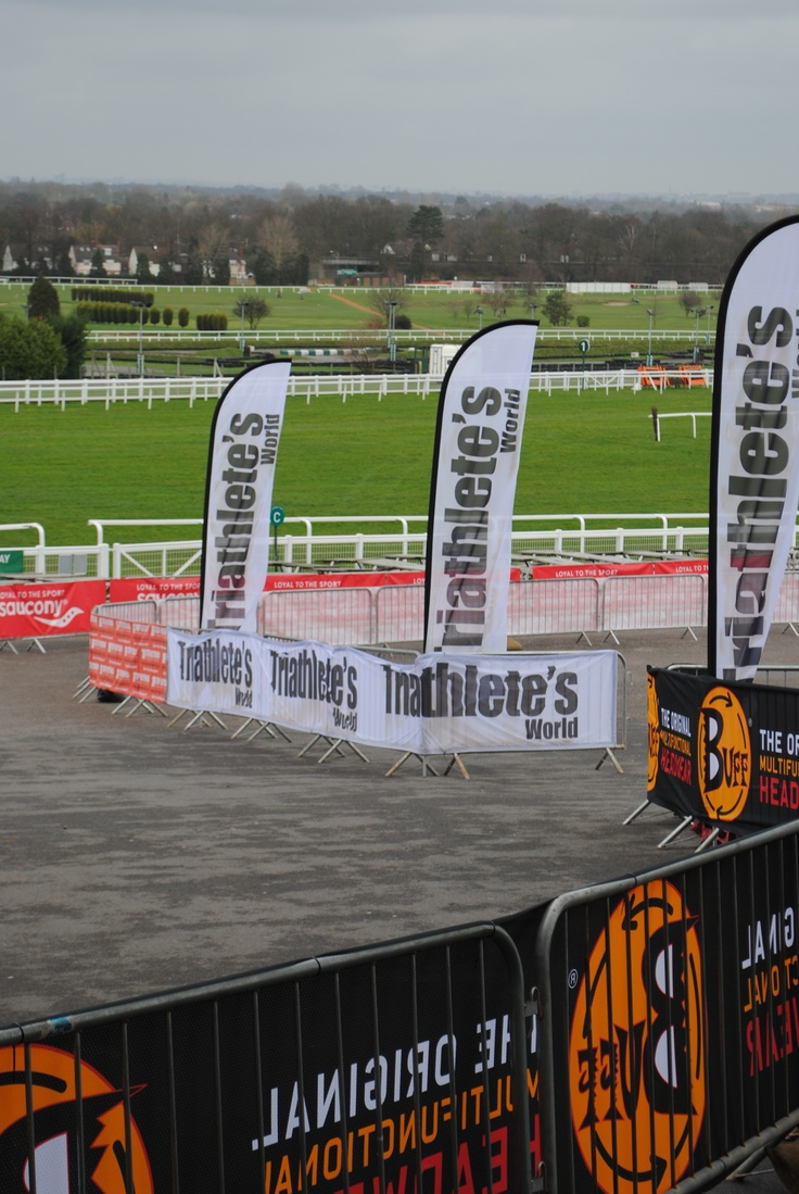Crowd Barrier Banner with Feather Flags