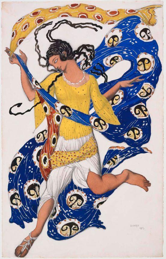 Costume design by Léon Bakst (1866-1924), 1913, The Butterfly for Anna Pavlova.: