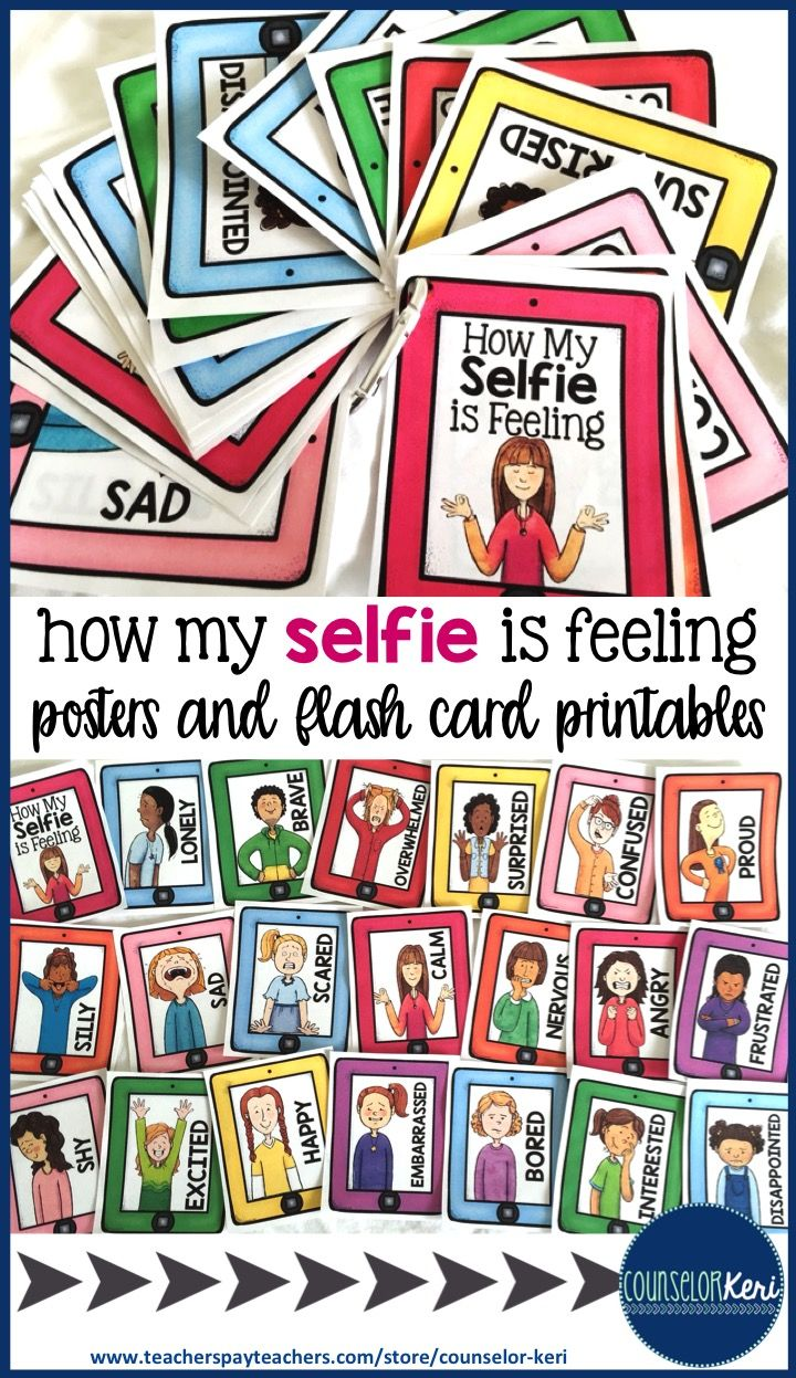 Feelingsemotions posters and flash cards school