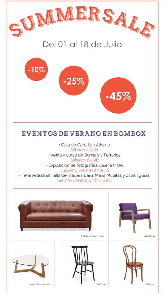Del 1al 18 de julio/2015, visítanos en nuestra tienda Cll 109 16-35 Bogotá #Design #Bombox #Happy