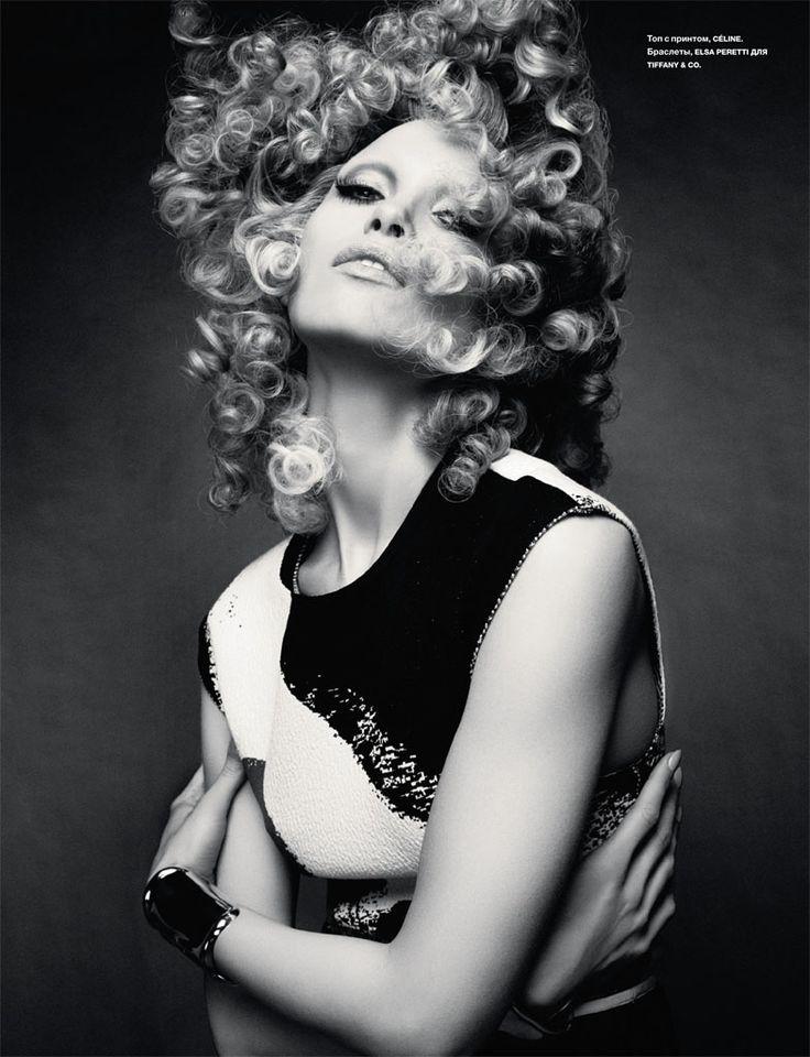hana jirickova 2014 photos4 Hana Jirickova Rocks Curly Hair in Numero Russia Spread by David Roemer
