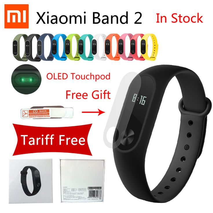 Originale xiaomi mi band 2 miband cerdas kebugaran vigilanza del del braccialetto wristband oled touchpad sonno monitor della frequ