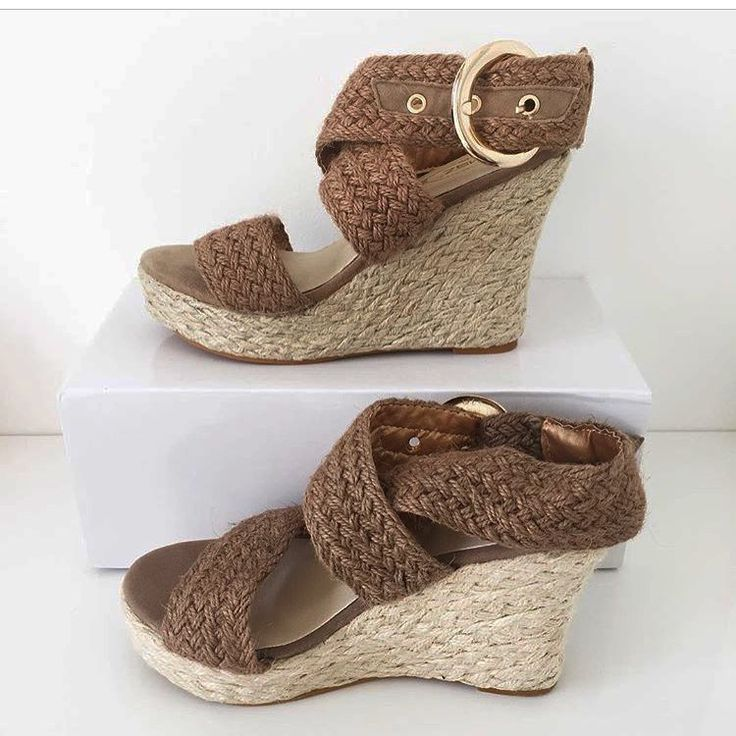 Bohemian Wedge Ankle Strap Sandals