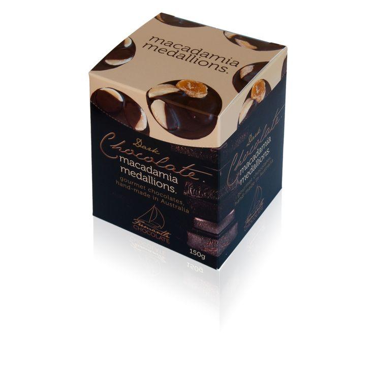 Dark Chocolate Macadamia Medallions 150g