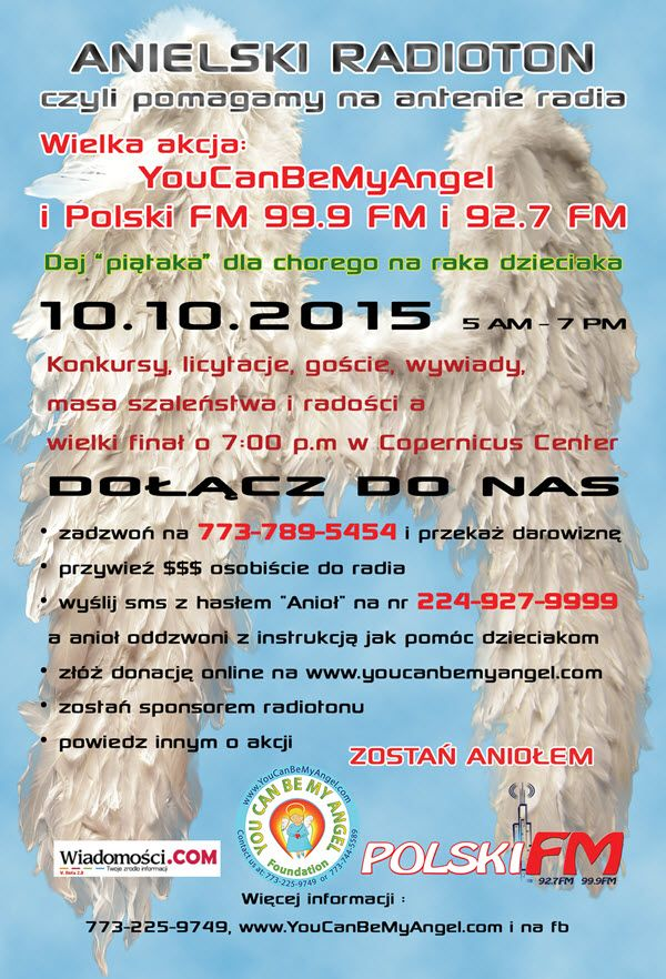 Anielski Radioton Fundacji You Can Be My Angel  Chicago, 10-10-2015,