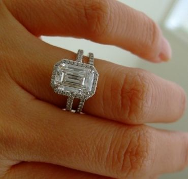 Pin By Melany Dilworth On Jewelry In  Pinterest Emerald Cut Engagement Rings And Emerald
