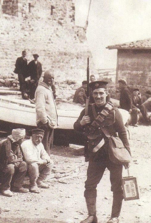 1912 Yunan Askerlerinin Bozcaada'ya gelişi
