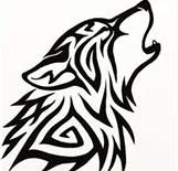 Celtic wolf*vector*