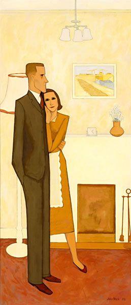 The new house, 1953 - John Brack