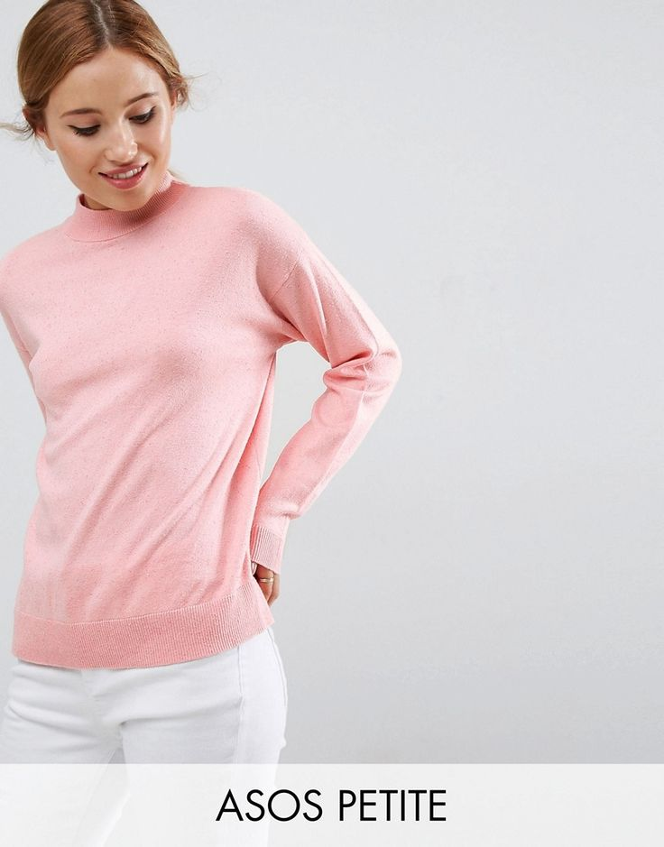Get this Asos Petite's jersey dress now! Click for more details. Worldwide shipping. ASOS PETITE Jumper In Silk Blend - Pink: Petite jumper by ASOS PETITE, Silk-mix knit, Crew neck, Dropped shoulders, Ribbed trims, Oversized fit - falls generously over the body, Our model wears a UK 8/EU 36/US 4. 5�3�/1.60m and under? The London-based design team behind ASOS PETITE take all your fashion faves and cut them down to size. Say goodbye to all your short-girl problems with our perfectly proport...