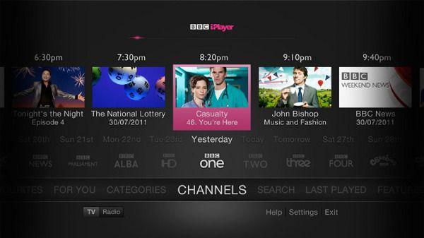 BBC iPlayer on TV by Nick Beese, via Behance