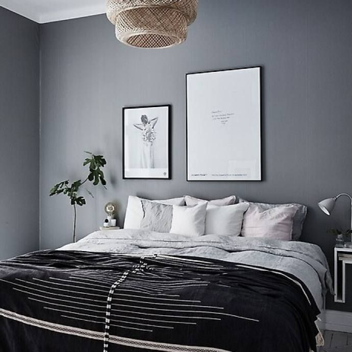 51 Scandinavian Stylish Bedroom Decor Ideas Dark Bedroom Walls Gray Bedroom Walls Bedroom Wall Colors