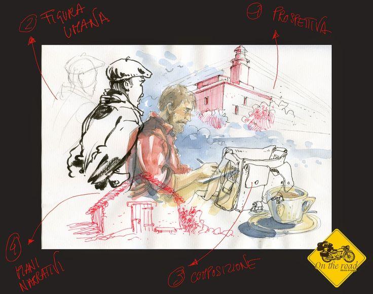 QUARANTASETTEROSSO Atelier di Gabriele Genini : Disegnando On The Road
