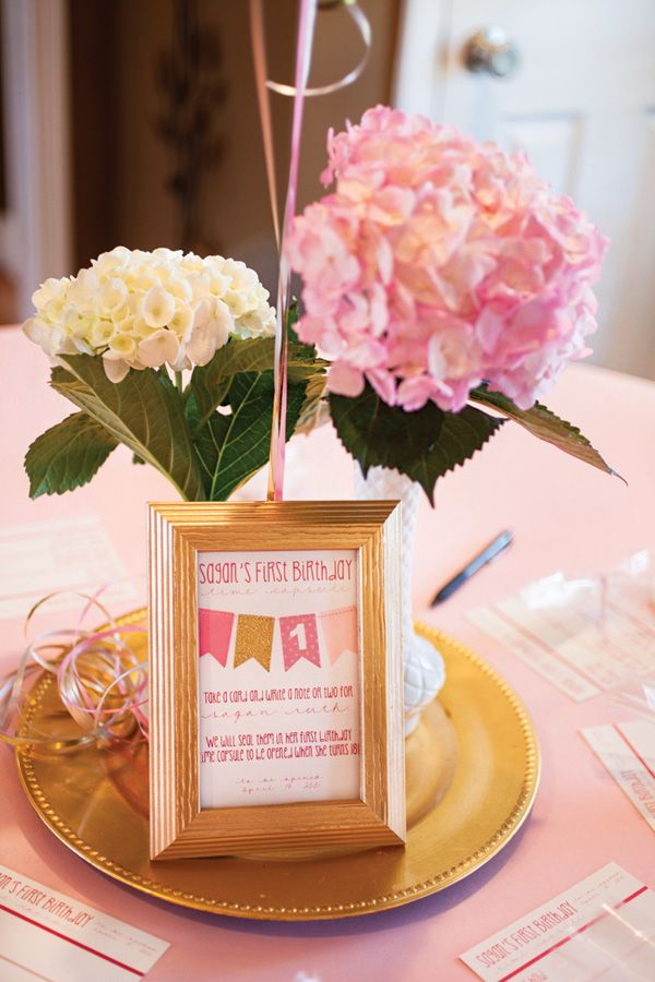 Charming Pink & Gold First Birthday Party