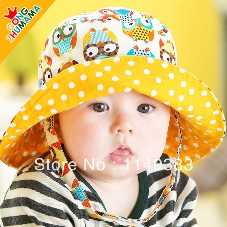 2014 Spring New Design Bonnet Baby Hat Child Bucket Hats Boys & Girls Sun Beach Cap Two Size 6 Pattern US $6.39