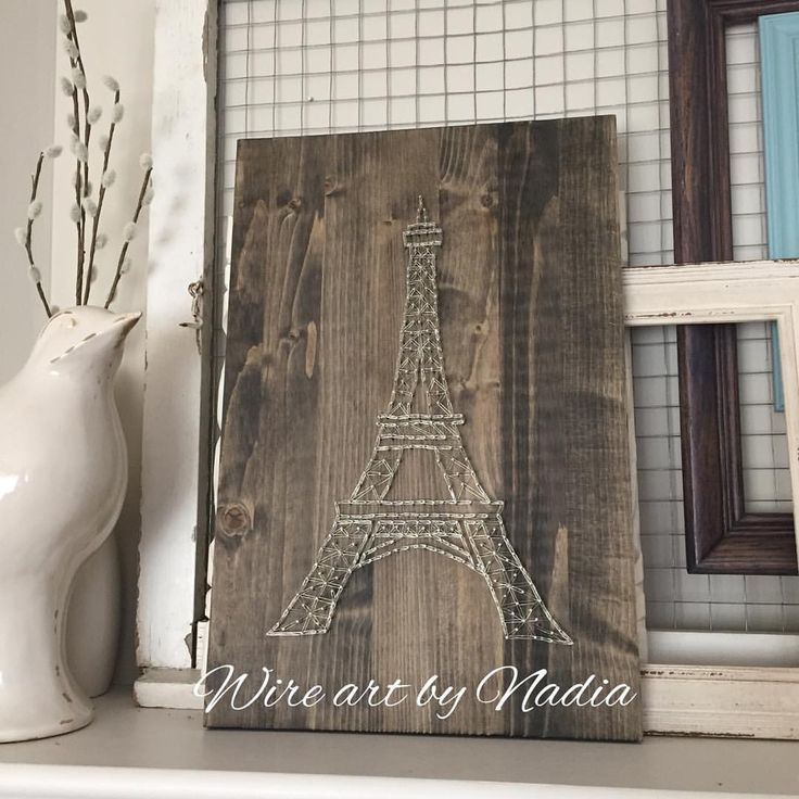 "7 Likes, 1 Comments - Nadia P. (@nadiap.artist) on Instagram: ""Oh Paris, your Eiffel Tower is perfect for some wire love. #wireartist #handmade #canadianmade…"""