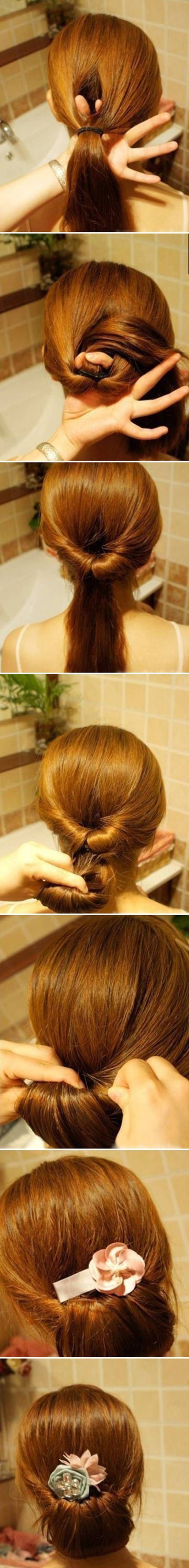 How to DIY Easy Twisted Hair Bun Hairstyle #fashion #beauty #hairstyle