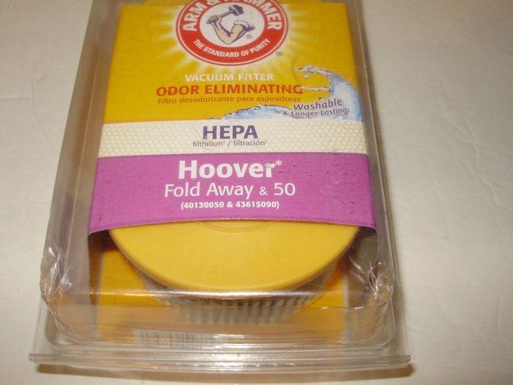 Arm & Hammer Odor Eliminating HEPA Hoover Fold Away & 50 Vacuum Filter 62637F #Hoover