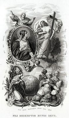 7.LITANIE LAURETANE: SS.VERGINE MARIA.MADONNA.Religione.Acciaio.Capolavoro.1850