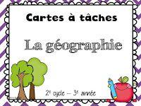 Gratuit! Cartes à tâches de 3e année sur la géographie.